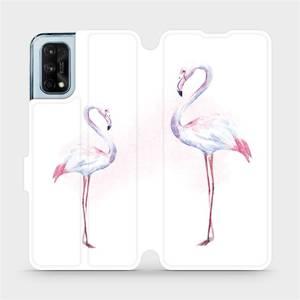 Flipové pouzdro Mobiwear na mobil Realme 7 Pro - M005S Plameňáci