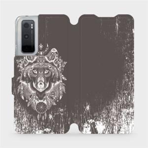 Flipové pouzdro Mobiwear na mobil Vivo Y70 - V064P Vlk a lapač snů