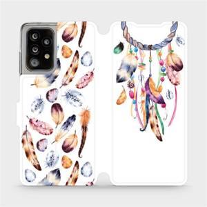 Flipové pouzdro Mobiwear na mobil Samsung Galaxy A52 / A52 5G / A52s 5G - M003S Lapač a barevná pírka