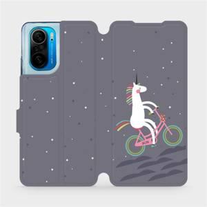 Flipové pouzdro Mobiwear na mobil Xiaomi Mi 11i / Xiaomi Poco F3 - V024P Jednorožec na kole
