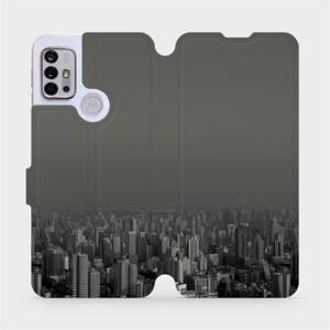 Flipové pouzdro Mobiwear na mobil Motorola Moto G10 - V063P Město v šedém hávu