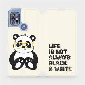 Flipové pouzdro Mobiwear na mobil Motorola Moto G30 - M041S Panda - life is not always black and white