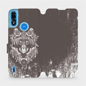 Flipové pouzdro Mobiwear na mobil Motorola Moto E7i Power - V064P Vlk a lapač snů