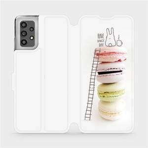 Flip pouzdro Mobiwear na mobil Samsung Galaxy A32 LTE - M090P Makronky - have a nice day
