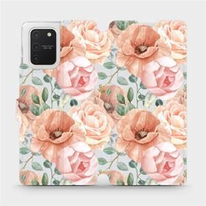 Flip pouzdro Mobiwear na mobil Samsung Galaxy S10 Lite - MP02S Pastelové květy