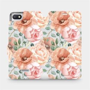 Flip pouzdro Mobiwear na mobil Xiaomi Redmi 6A - MP02S Pastelové květy