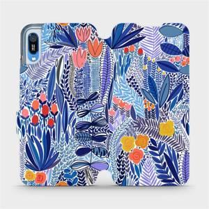 Flip pouzdro Mobiwear na mobil Huawei Y6 2019 - MP03P Modrá květena
