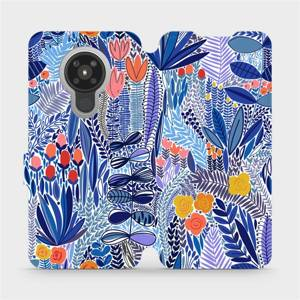 Flip pouzdro Mobiwear na mobil Nokia 5.3 - MP03P Modrá květena