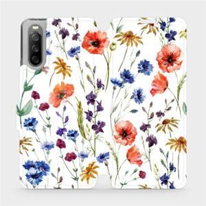 Flip pouzdro Mobiwear na mobil Sony Xperia 10 III - MP04S Luční kvítí