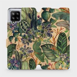 Flip pouzdro Mobiwear na mobil Samsung Galaxy A42 5G - VP05S Sukulenty
