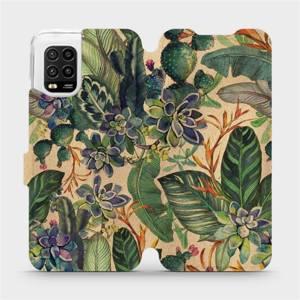 Flip pouzdro Mobiwear na mobil Xiaomi Mi 10 Lite - VP05S Sukulenty