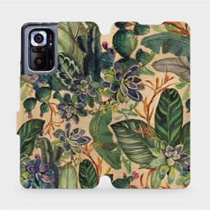 Flip pouzdro Mobiwear na mobil Xiaomi Redmi Note 10 Pro - VP05S Sukulenty