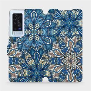 Flip pouzdro Mobiwear na mobil Vivo X60 Pro 5G - V108P Modré mandala květy