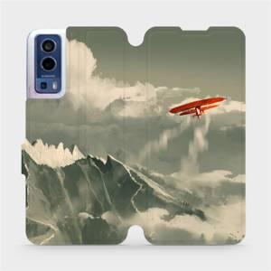 Flip pouzdro Mobiwear na mobil Vivo Y72 5G / Vivo Y52 5G - MA03P Oranžové letadlo v horách