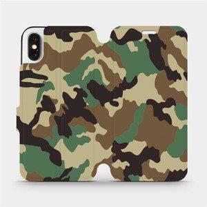 Flipové pouzdro Mobiwear na mobil Apple iPhone X - V111P Maskáče