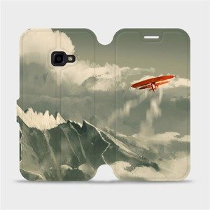 Flipové pouzdro Mobiwear na mobil Samsung Xcover 4 - MA03P Oranžové letadlo v horách