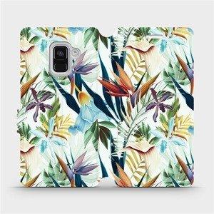 Flipové pouzdro Mobiwear na mobil Samsung Galaxy A8 2018 - M071P Flóra