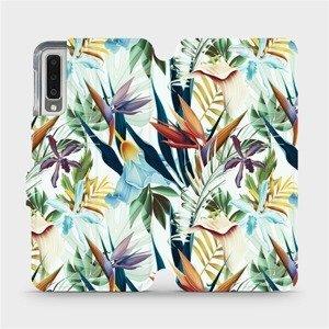 Flipové pouzdro Mobiwear na mobil Samsung Galaxy A7 2018 - M071P Flóra