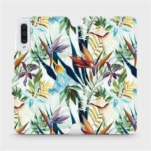 Flipové pouzdro Mobiwear na mobil Samsung Galaxy A50 - M071P Flóra
