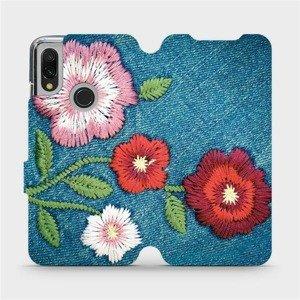 Flipové pouzdro Mobiwear na mobil Xiaomi Redmi 7 - MD05P Džínové květy