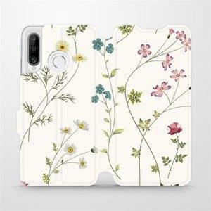 Flipové pouzdro Mobiwear na mobil Huawei P30 Lite - MD03S Tenké rostlinky s květy