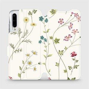 Flipové pouzdro Mobiwear na mobil Xiaomi Mi A3 - MD03S Tenké rostlinky s květy