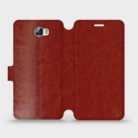 Parádní flip pouzdro Mobiwear na mobil Huawei Y5 II v provedení C_BRP Brown&Orange s oranžovým vnitřkem