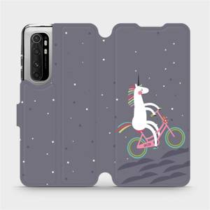 Flipové pouzdro Mobiwear na mobil Xiaomi Mi Note 10 Lite - V024P Jednorožec na kole