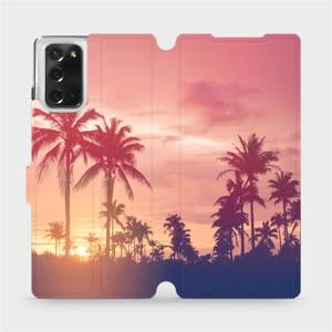 Flipové pouzdro Mobiwear na mobil Samsung Galaxy Note 20 - M134P Palmy a růžová obloha