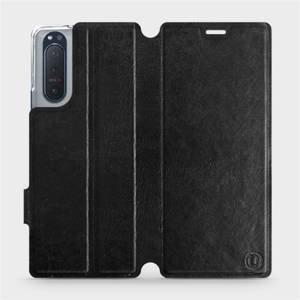 Flipové pouzdro Mobiwear na mobil Sony Xperia 5 II v provedení C_BLS Black&Gray s šedým vnitřkem