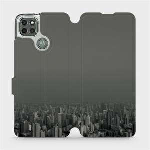 Flipové pouzdro Mobiwear na mobil Motorola Moto G9 Power - V063P Město v šedém hávu