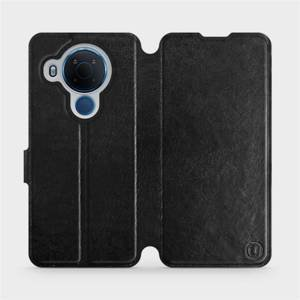 Flipové pouzdro Mobiwear na mobil Nokia 5.4 v provedení C_BLP Black&Orange s oranžovým vnitřkem