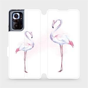 Flipové pouzdro Mobiwear na mobil Xiaomi Redmi Note 10 Pro - M005S Plameňáci