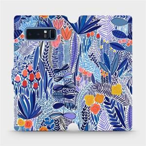 Flip pouzdro Mobiwear na mobil Samsung Galaxy Note 8 - MP03P Modrá květena