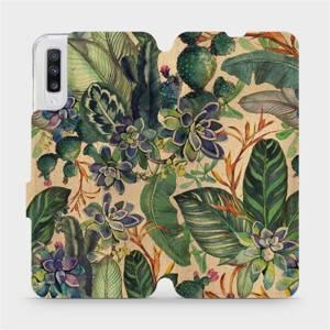Flip pouzdro Mobiwear na mobil Samsung Galaxy A70 - VP05S Sukulenty