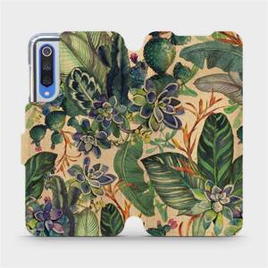 Flip pouzdro Mobiwear na mobil Xiaomi Mi 9 SE - VP05S Sukulenty