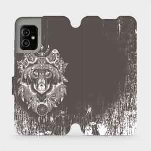 Flip pouzdro Mobiwear na mobil Asus Zenfone 8 - V064P Vlk a lapač snů