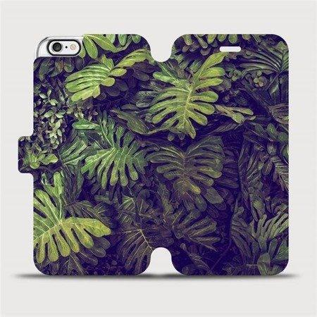 Flipové pouzdro Mobiwear na mobil Apple iPhone 6 / iPhone 6s - V136P Zelená stěna z listů