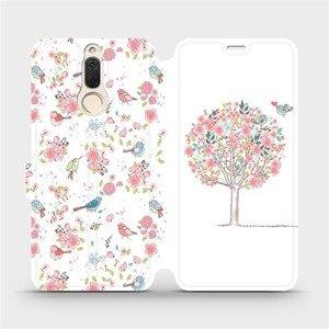 Flipové pouzdro Mobiwear na mobil Huawei Mate 10 Lite - M120S Strom a ptáčci