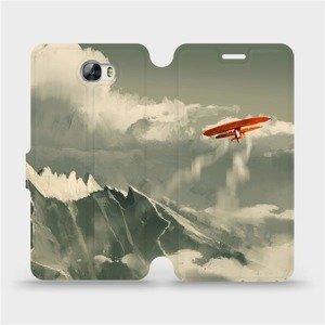 Flipové pouzdro Mobiwear na mobil Huawei Y5 II - MA03P Oranžové letadlo v horách