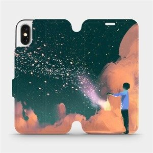 Flipové pouzdro Mobiwear na mobil Apple iPhone X - VA14P Postava s lampou