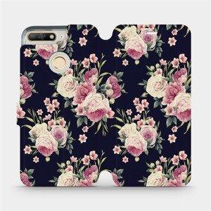 Flipové pouzdro Mobiwear na mobil Huawei Y6 Prime 2018 - V068P Růžičky