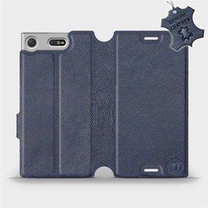 Luxusní flip pouzdro Mobiwear na mobil Sony Xperia XZ1 Compact - Modré - kožené -  L_NBS Blue Leather - výprodej