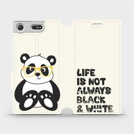 Flipové pouzdro Mobiwear na mobil Sony Xperia XZ1 Compact - M041S Panda - life is not always black and white