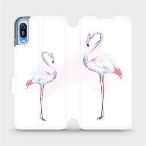 Flipové pouzdro Mobiwear na mobil Huawei Y6 2019 - M005S Plameňáci