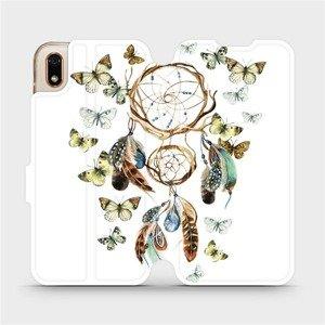 Flipové pouzdro Mobiwear na mobil Huawei Y5 2019 - M001P Lapač a motýlci