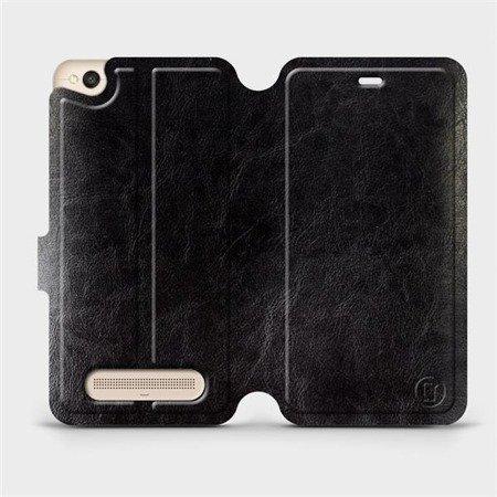 Parádní flip pouzdro Mobiwear na mobil Xiaomi Redmi 4A v provedení C_BLS Black&Gray s šedým vnitřkem