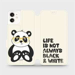 Flipové pouzdro Mobiwear na mobil Apple iPhone 11 - M041S Panda - life is not always black and white