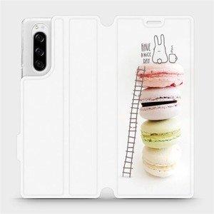 Flipové pouzdro Mobiwear na mobil Sony Xperia 5 - M090P Makronky - have a nice day