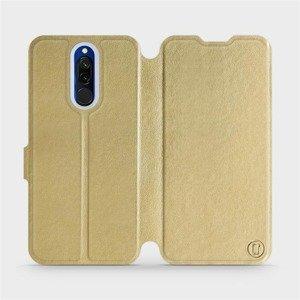 Flipové pouzdro Mobiwear na mobil Xiaomi Redmi 8 v provedení C_GOS Gold&Gray s šedým vnitřkem